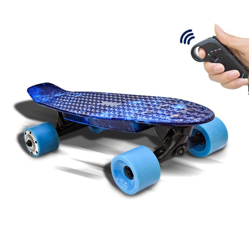 Smart Children's electric skateboard Four-wheel electric longboard Children's scooter gift Trendy vehicles