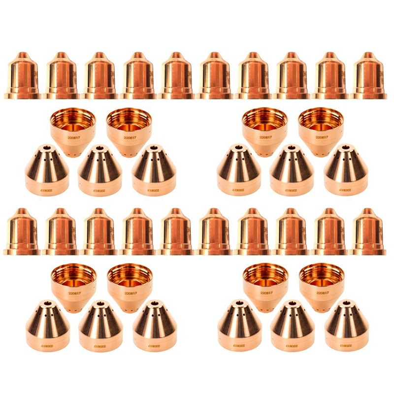 Puntas de Plasma ABSF 20 piezas 220941 20 piezas puntas de Plasma 220817 aptas para Hypertherm Powermax 65/85/105