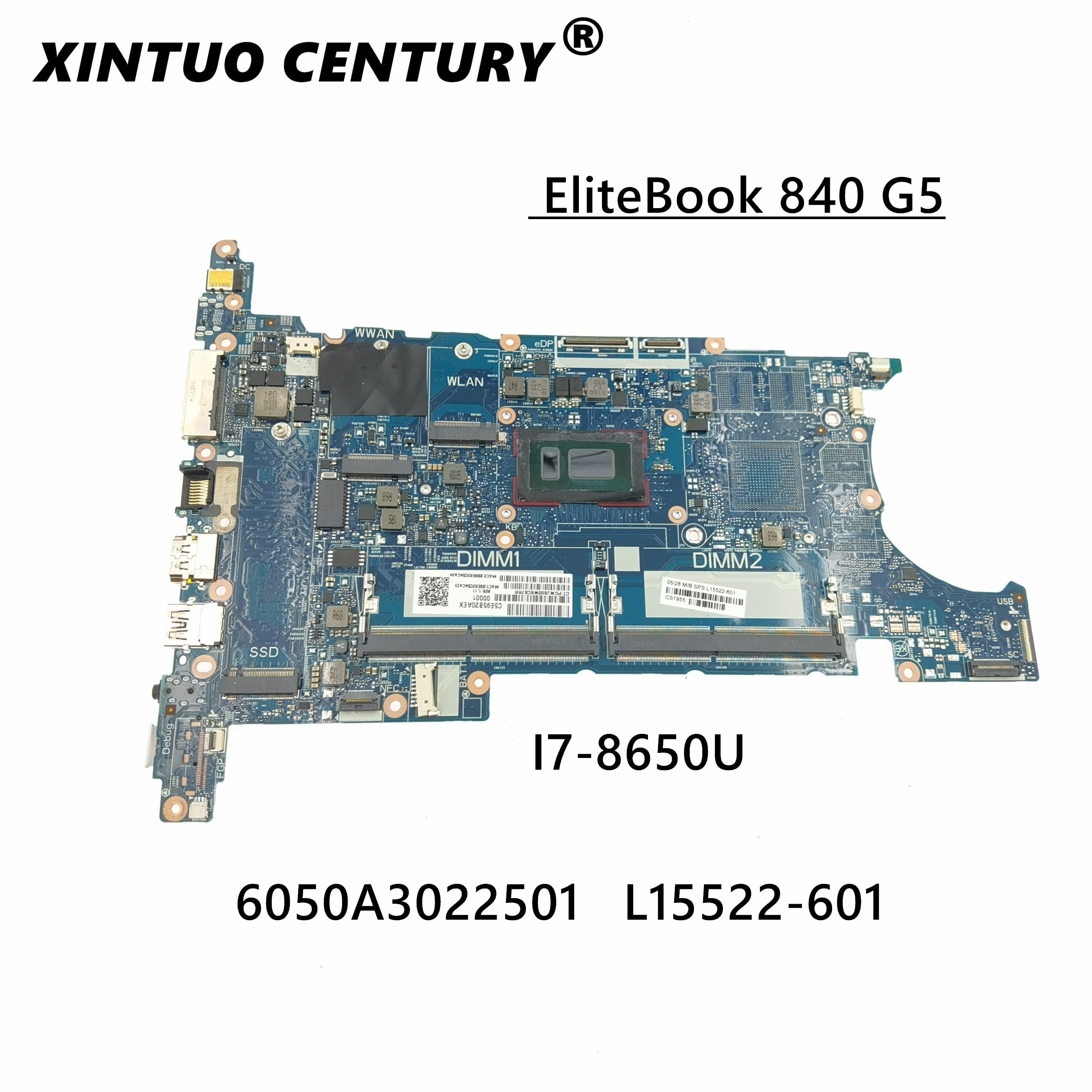 ل HP بي EliteBook 840 G5 i7-8650U اللوحة L15522-001 L15522-601 6050A3022501 100% اختبار بالكامل