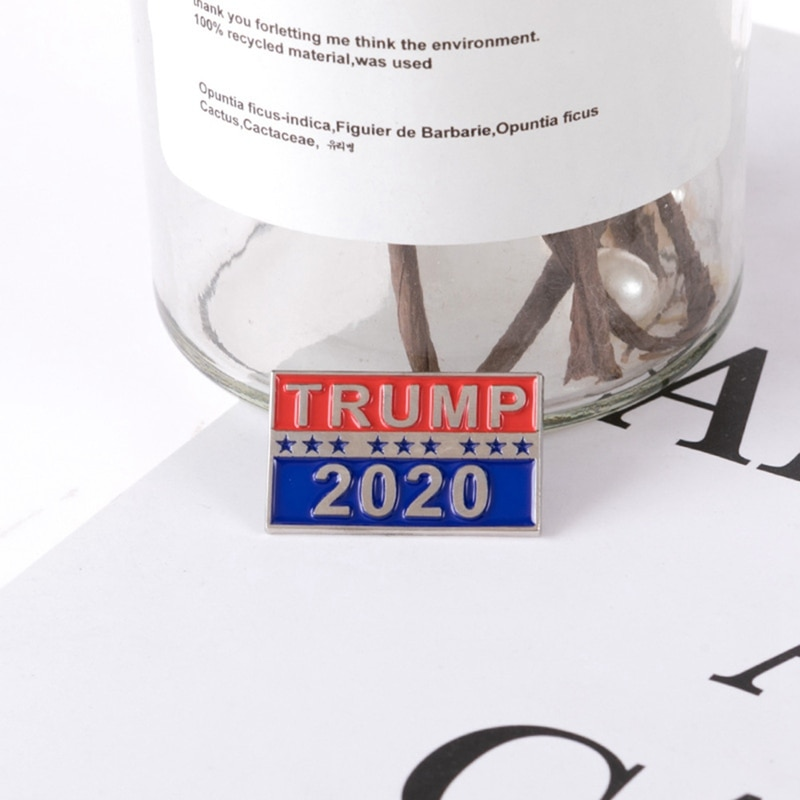 Metal emblema trump 2020 pinos de esmalte américa presidente campanha republicana política broche casaco camisas saco jóias presentes