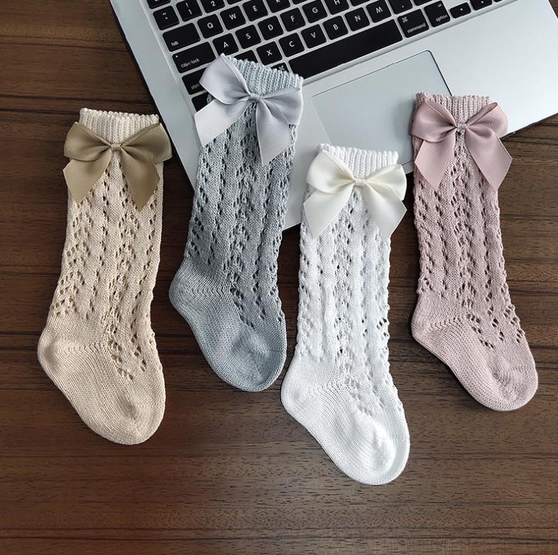 Детские чулки в виде рыболовной сети, однотонные дышащие хлопковые носки средней длины для девочек S/M/L/XL/XXL