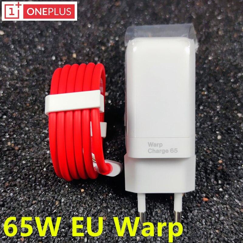 ون بلس الاعوجاج شاحن 65 واط الأصلي الاتحاد الأوروبي محول الطاقة USB C إلى نوع C كابل ل oneplus 9 برو 8 8t 7 7t 6 6t 5 5t nodr 10