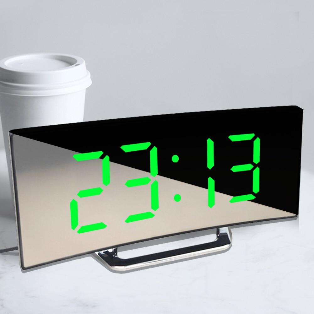 Цифровой будильник со светодиодный ным экраном, будильник для детской спальни, функция повтора температуры, настольные часы, домашний деко...