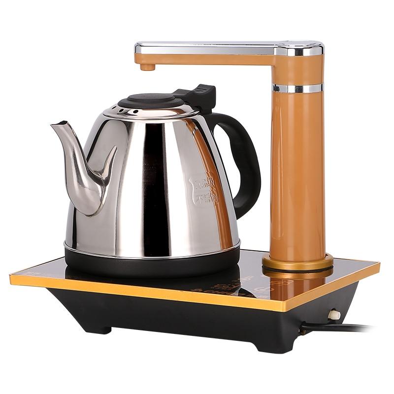 Tetera para calentar agua para el hogar tetera eléctrica automática Mini tetera de acero inoxidable dispensador de agua caldera 1L
