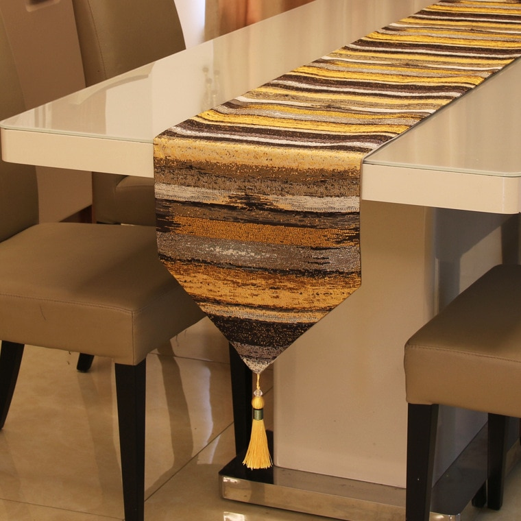 بسيط الأوروبي اللون مستقيم عالية الدقة الجدول عداء النمط الأوروبي طاولة طعام و طاولة القهوة الأمريكية السرير منشفة