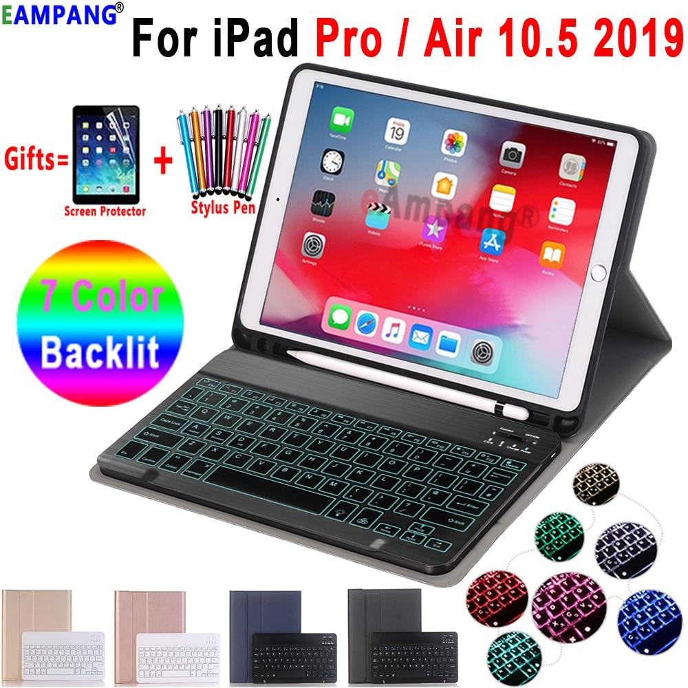 Чехол для клавиатуры с подсветкой для Apple iPad Air 10,5, 2019, Air 3, Чехол для iPad Pro 10,5, 2017, чехол для клавиатуры с Bluetooth, чехол для карандаша