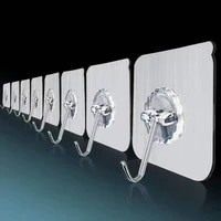 10 pcs hooks transparent strong self adhesive door wall hangers hooks suction heavy load rack cup sucker for kitchen bathroom