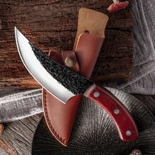 Forjado aço carbono alto faca de desossa facas de cozinha artesanal faca de pesca cutelo carne acampamento ao ar livre ferramenta de cozinha