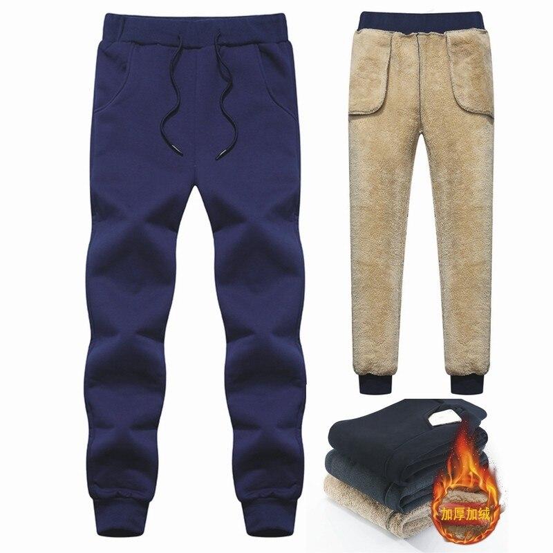 Мужские длинные брюки, плотные мужские брюки, мужские зимние брюки, теплые кашемировые классические Супер уличные мужские брюки, брендовые