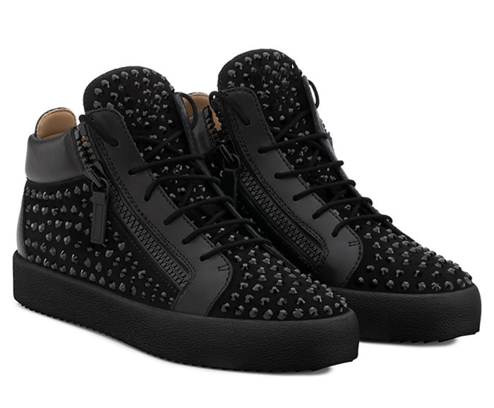 أحذية رياضية رجالي من showegle أحذية رجالي عصرية مُزينة بقطع قماش سميك مُزينة بسحّاب وحجر الراين أحذية رياضية للرجال