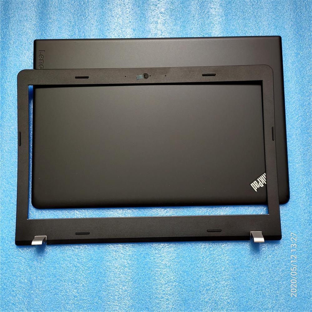 Original nuevo para Lenovo ThinkPad Edge E570 E575 Lcd superior tapa trasera 01EP120 AP11P00 + bisel frontal LCD 01EP119 AP11P000200