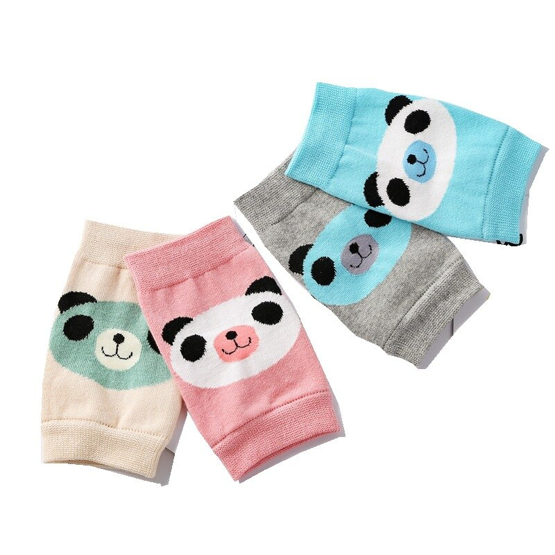 Cartoon Bear Cat Air-Conditioned Room Leg Warmers Breathable Baby Boy Toddler Elbow Protector Crawling Knee Pads Baby Accessory leg warmers women warm knee kneepad slim knee protector room outdoor breathable thermal knee pads to keep warm