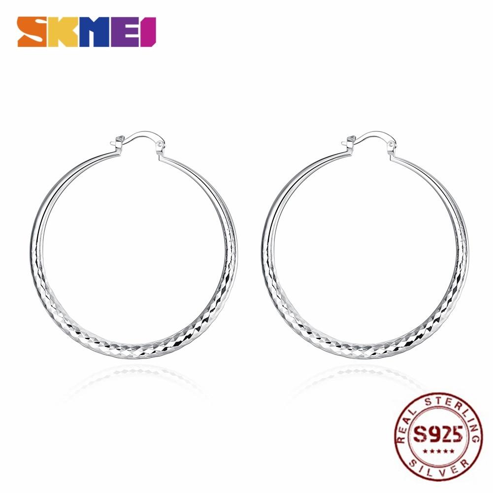 SKMEI Earring Hoop 925 Sterling Silver Fashion Round Women Jewelry Wholesaler CE291
