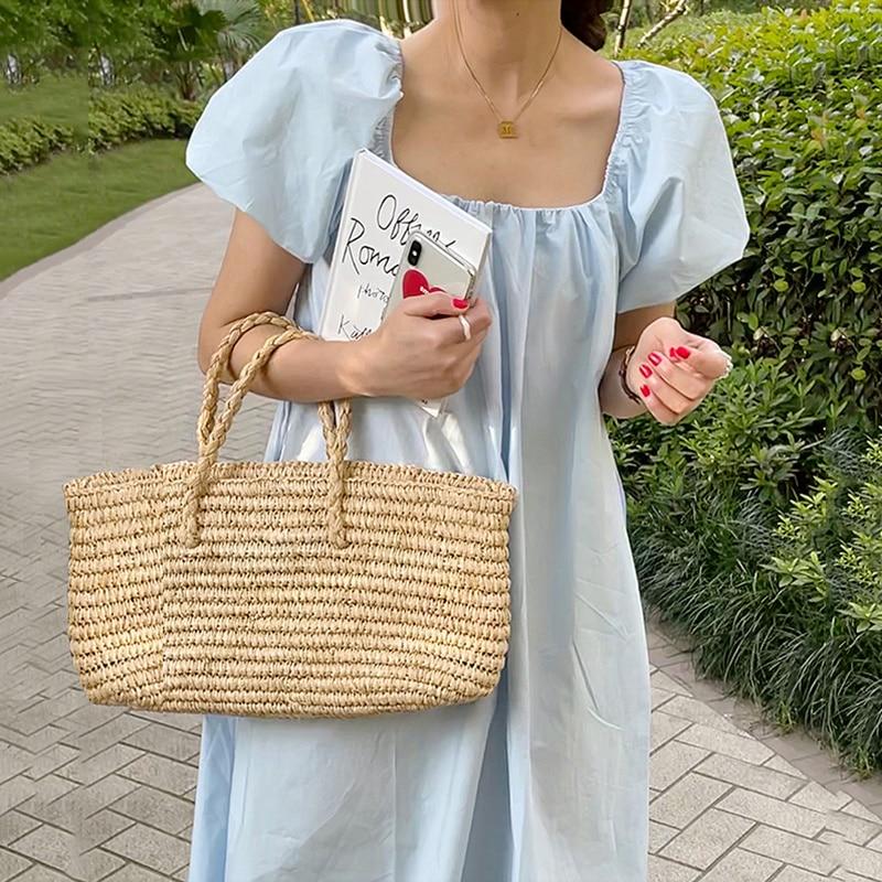 Korean Chic Temperament Milk Soft Blue Show Thin neck dress woman Care Open Back Lace Up Waist Long