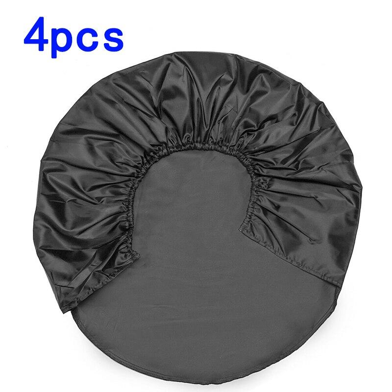 Cubiertas protectoras para neumáticos de coche, 4 Uds., 80*30cm, negro, 210D, tela Oxford, cubiertas protectoras para neumáticos, resistentes al agua, antiarañazos, accesorios para coches
