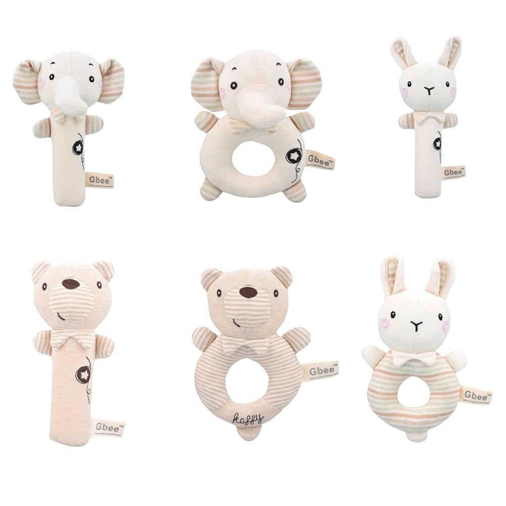 Детские игрушки, Мультяшные животные, Детские плюшевые погремушки, мобильный Колокольчик для новорожденных, Игрушки для раннего развития м...