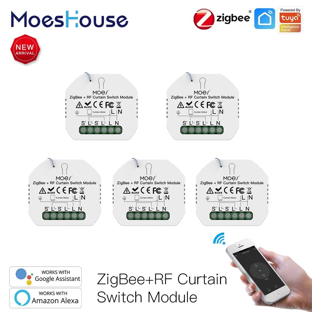 MoesHouse-مفتاح ستارة ، tuya smart home ، zigbee ، أتمتة المنزل الذكي ، مفتاح ستارة hom zigbee ، محرك دوار للنوافذ