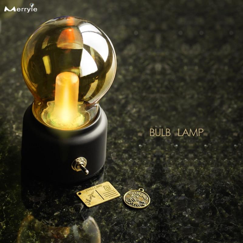 Хэллоуин Ретро светильник USB аккумуляторная Ночная лампа для Спальня Corride электрическая лампочка эдисона лампочка в виде шара пузыря декор ...