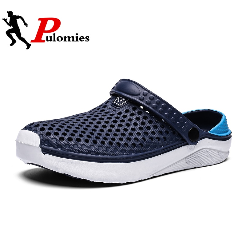 PULOMIES Summer Men's and Women's Clogs Quick Dry Casual Home Slippers Couple Garden Shoes Beach San