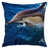 dolphin blue sea pillow covers ocean whale theme decorative polyester fiber outdoor cushion cover home sofa decory 16 x 16