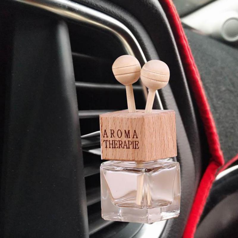 1pc Car Accessories Auto Air Freshener Hanging Glass Bottle Auto Perfume Diffuser Bottle For Essential Oils Fragrance Ornament