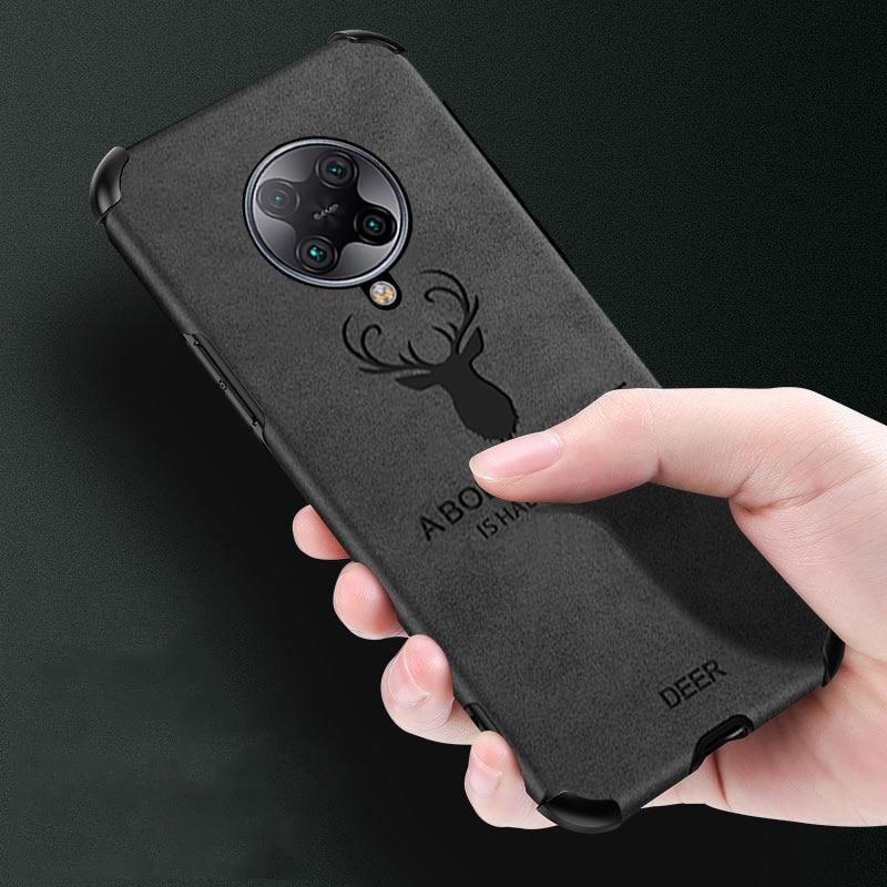 Capinha para xiaomi redmi nota 9 s k30 note8 pro mi 10 pro 3d veados escudo de couro do plutônio canto ar à prova de choque capa protetora do telefone