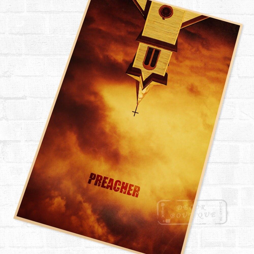Preacher US TV Show Vintage Retro afiche decorativo DIY pared lienzo pintura pegatinas pósteres casa Bar arte Decoración