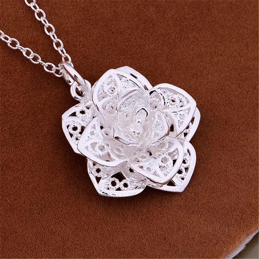 925-Серебряное-ожерелье-Подвески-довольно-милое-модное-хорошее-Ювелирное-Украшение-свадебные-вашу-благородную-элегантность-женские-класси