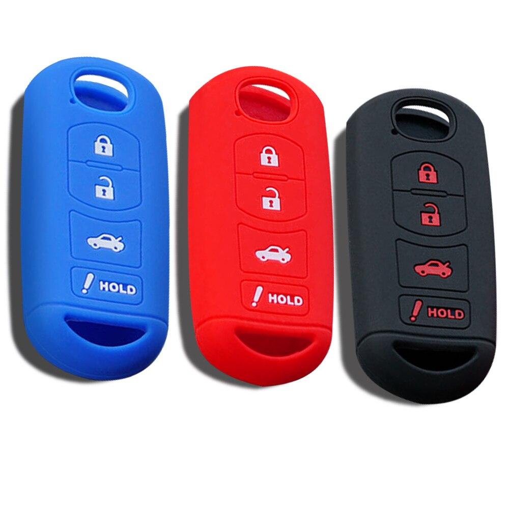 Silicone chave capa caso titular para mazda 6 cx5 3 Cx-5 cx9 Cx-7 cx 5 8 m6 gt 2016 2017 acessórios chaveiro do carro caso fob