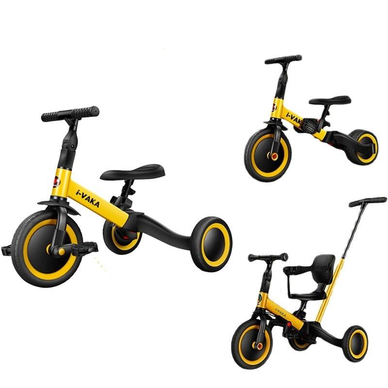 Детский трехколесный велосипед 3 в 1, детская прогулочная машина, детский балансировочный велосипед, детский трехколесный велосипед, детска...