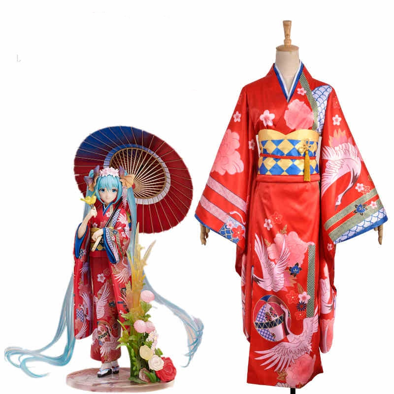 ¡Vocaloid Hatsune proyecto Diva F Miku Kimono Cosplay traje, personalizado perfecto para usted!