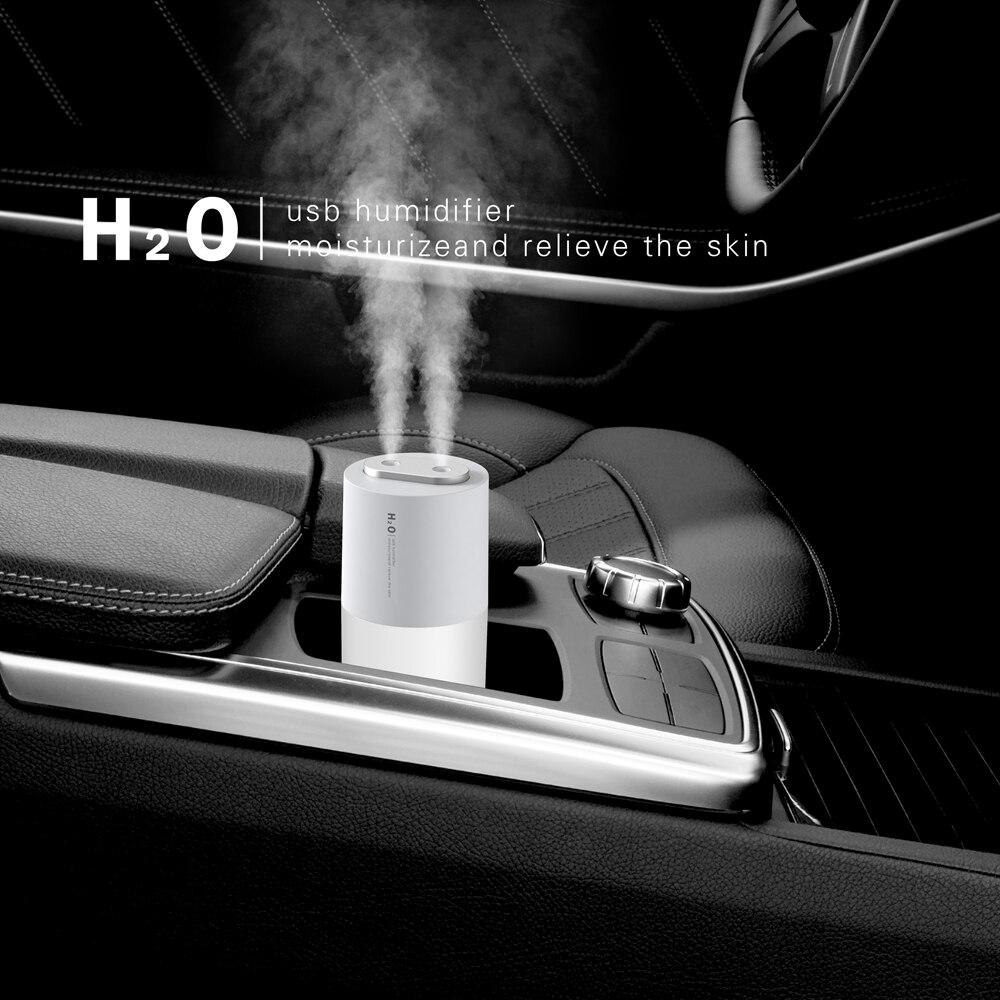 חדש USB מכונית כפולה תרסיס ארומתרפיה מכונת קולי ביתי שולחן העבודה מרסס מיני 400ML חם אור גדול ערפל אדים