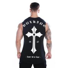 2019 Mens Bodybuilding Skinny Tank top Gyms Fitness Cotton Sleeveless Shirt Crossfit Clothing Male Summer Singlet Undershirt