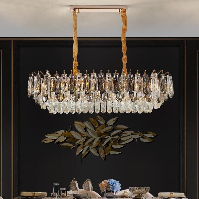 مختلط لون المطبخ جزيرة الثريات البلورية/ النجف الكريستالي أضواء غرفة المعيشة الحديثة الفاخرة غرفة الطعام أضواء الزخرفية