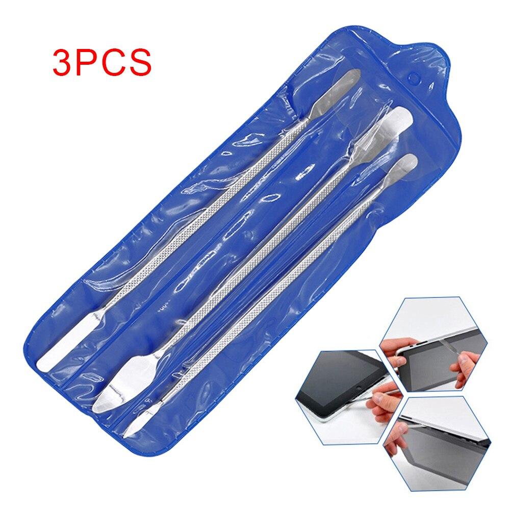 CN 3pcs Metal Spudger Universal Mobile Phone Repair Opening Tool Metal Disassemble Crowbar Steel Pry Phone Hand Tool Sets