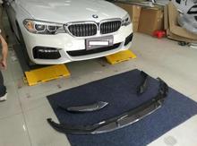 Fibre de carbone 3 pièces/1 ensemble voiture pare-chocs avant lèvre protecteur couverture convient pour BMW série 5 G30 G38 525 530 540 2017 2018 2019