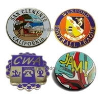 customized lapel pins custom hard enamel badge stamping brooch with clutch back gold or silver finish