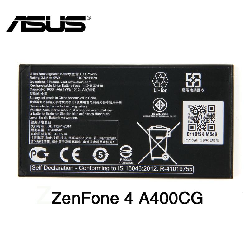 Batería Original ASUS B11P1415 de alta capacidad para ASUS ZenFone 4 A400CG ZenFone Go 4,5 ZC451TG Z00SD