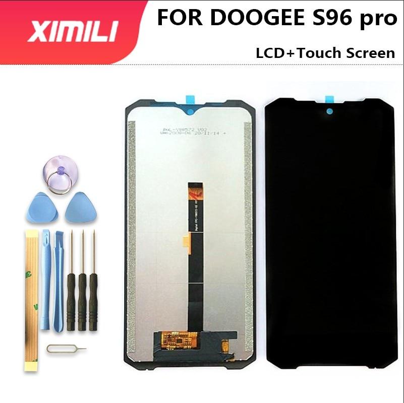 جديد 100% الأصلي ل DOOGEE S96 برو شاشة الكريستال السائل الزجاج مجموعة المحولات الرقمية لشاشة تعمل بلمس 6.22 بوصة استبدال الزجاج أدوات إصلاح