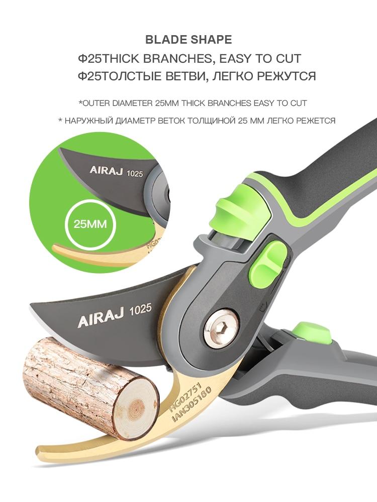 Sodininkystės žirklės, kuriomis galima nupjauti 24 mm skersmens - Sodo įrankiai - Nuotrauka 4
