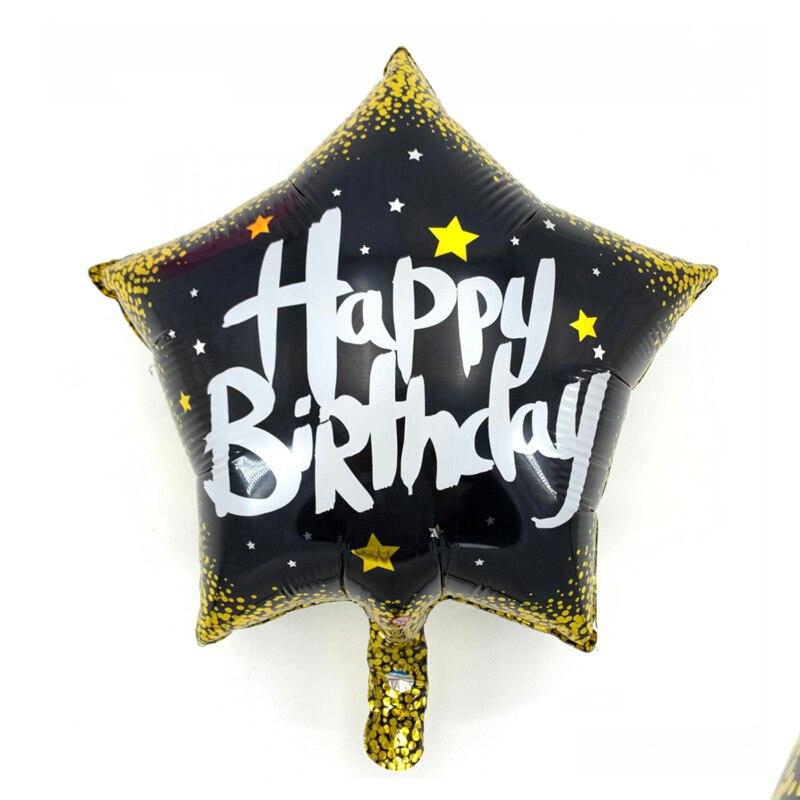 18 pulgadas globos de papel de aluminio para cumpleaños los niños fiesta de cumpleaños globo estrella globo de helio Mylar para niños fiesta suministros globos