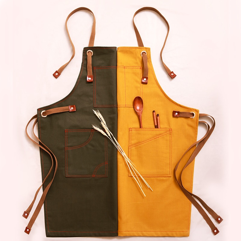 Nuevo restaurante de cocina de trabajo para mujer, utensilio de mezclilla antiincrustante,...