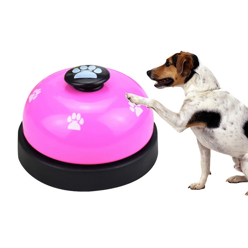 Timbre de juguete interactivo para perros, Timbre de Entrenamiento de mascotas para gatos, gatitos, cachorros, recordatorio de alimentación