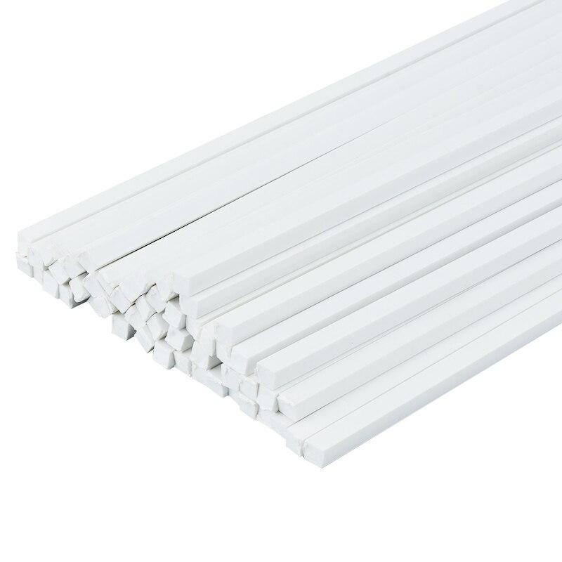50 Uds ABS barras cuadradas sólidas DIY manual construcción arena Mesa modelo de ABS modelo transformación de barras sólidas diorama