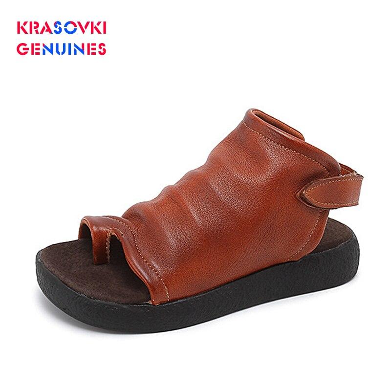 2020 de alta qualidade couro genuíno sandálias femininas flip-flops sola grossa sapatos femininos