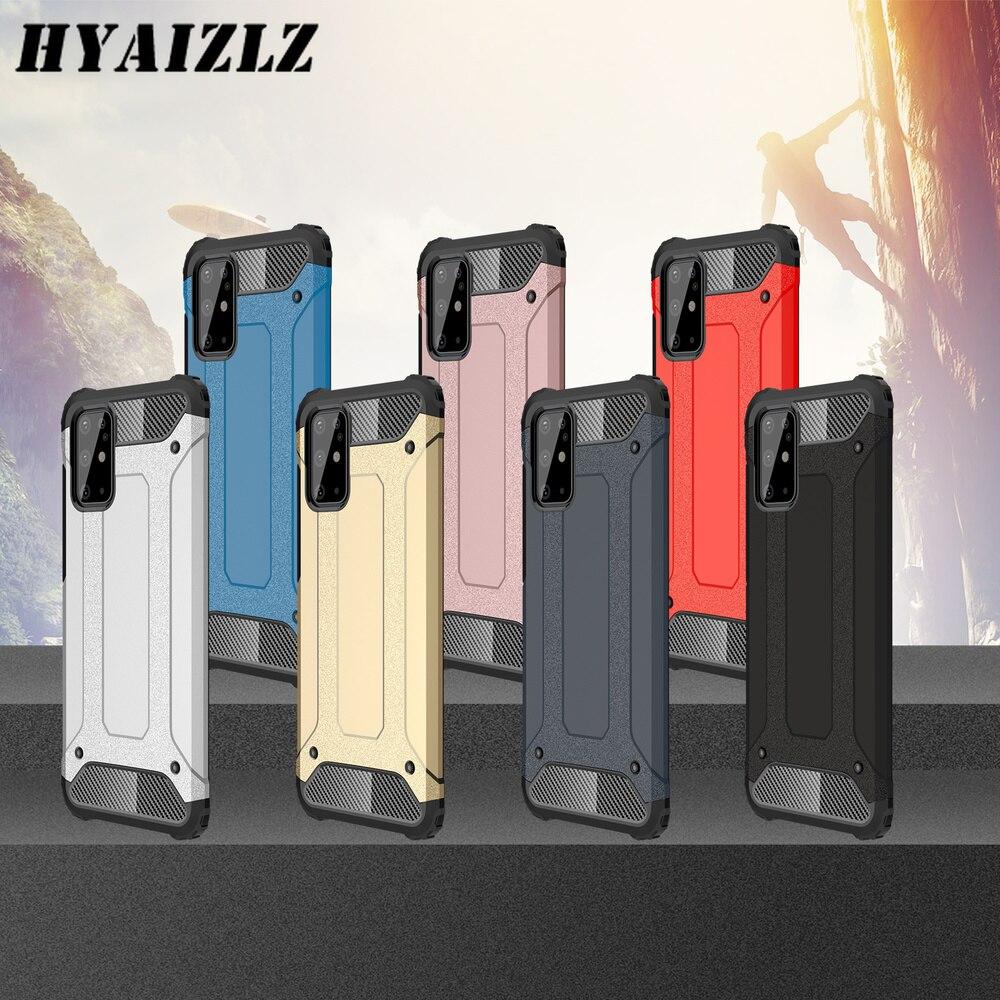 S20 Ultra Man Armor Case para Galaxy A01 S10 A41 S9 Plus Note 10 Lit A51 A71 A70E A11, parachoques resistente, cubierta trasera de doble capa