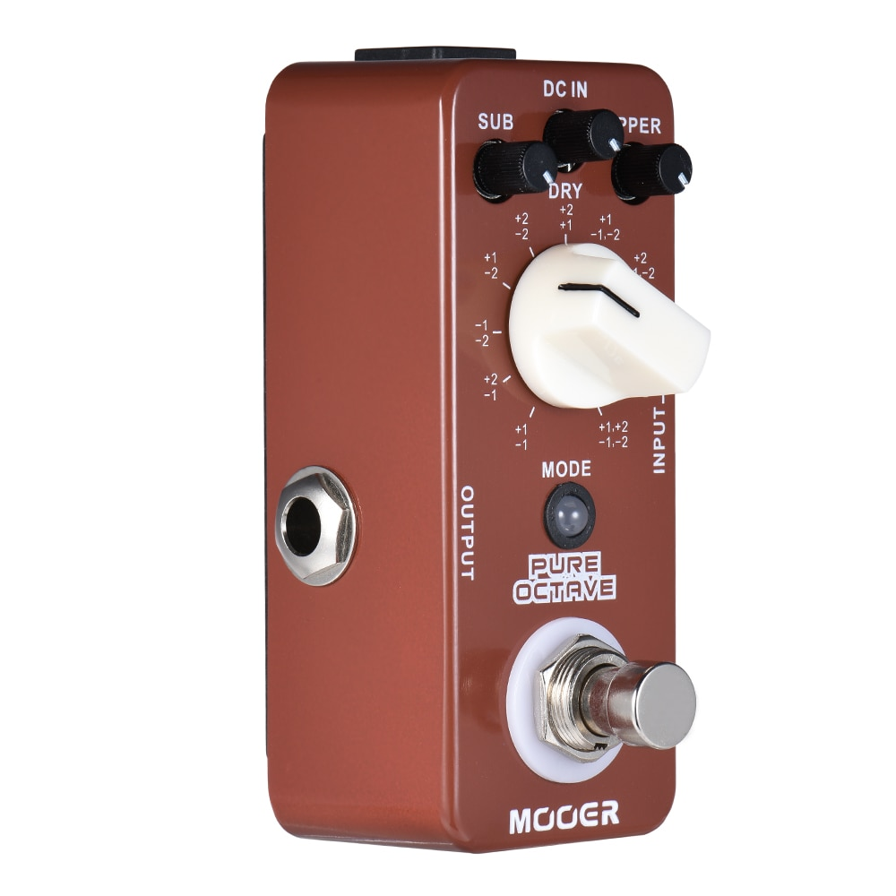 Mooer Pure Octave Guitar Pedal Electric Guitars Musical Instrument Precise Polyphonic Octave 11 Octave Modes Music Effector enlarge