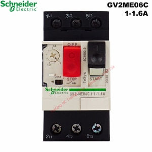 Schneider Electric GV2ME06C 1-1.6A Motor Thermal Magnetic Circuit Breaker GV2-ME06C 06C Button 3P Protection Switch Setting