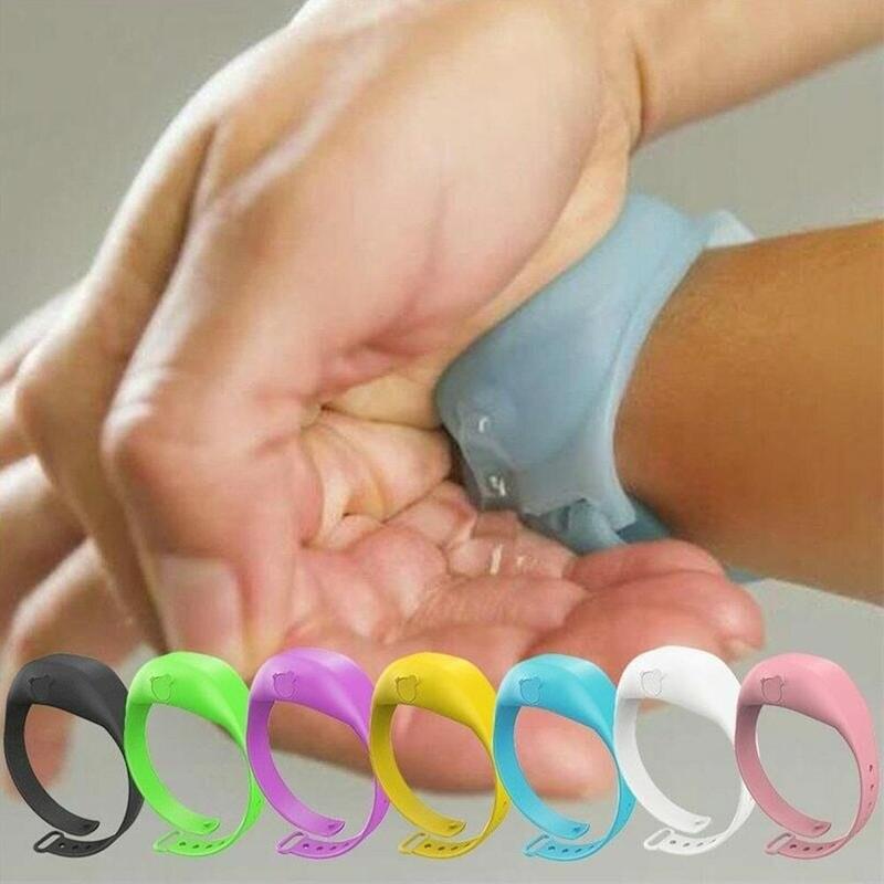 Pulsera desinfectante, pulsera, dispensador de mano, de silicona, dispensador de mano, pulsera, soporte de mano