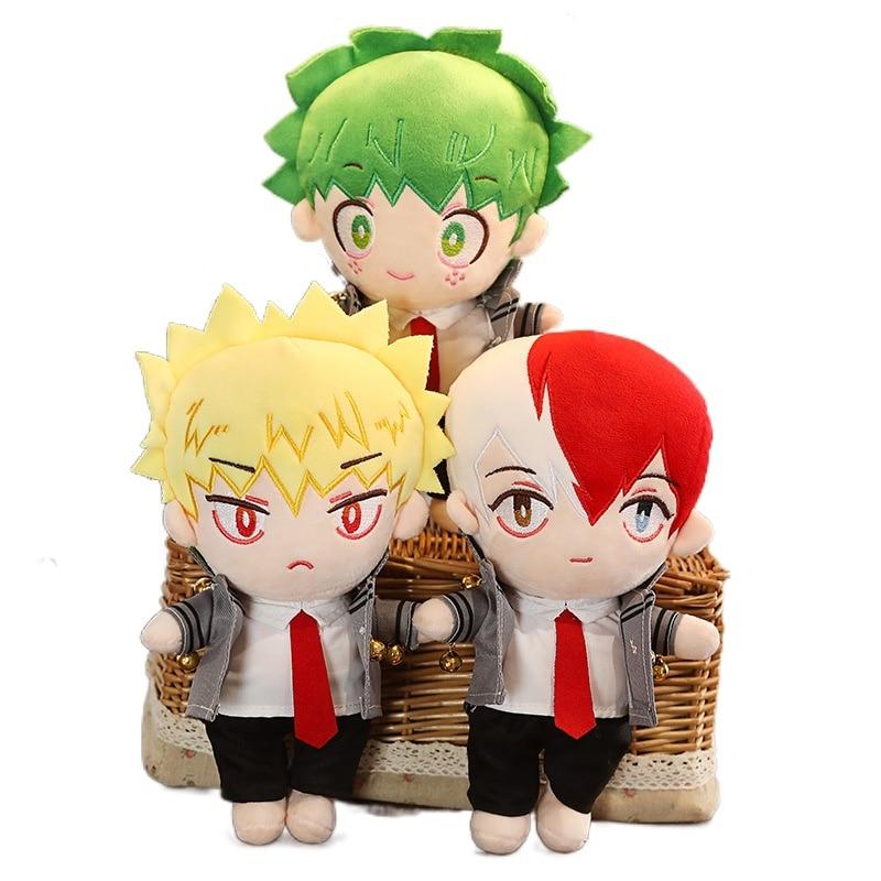 25cm Cute Anime Boku No My Hero Academia Midoriya Izuku Bakugou Katsuki Todoroki Cosplay DIY Change Dolls Plush Toy for Friend